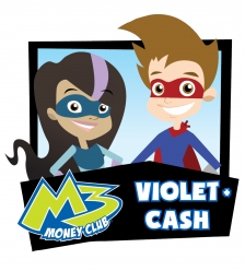 M3 Money Club. Violet and Cash.